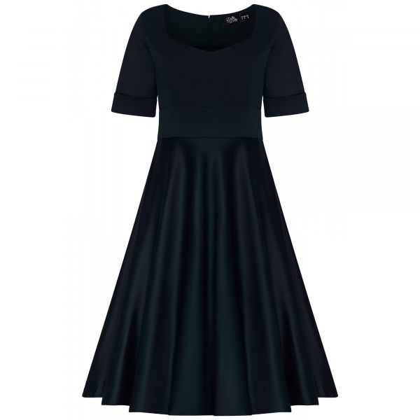 Swing Dress, BARBARA Black (849-7)