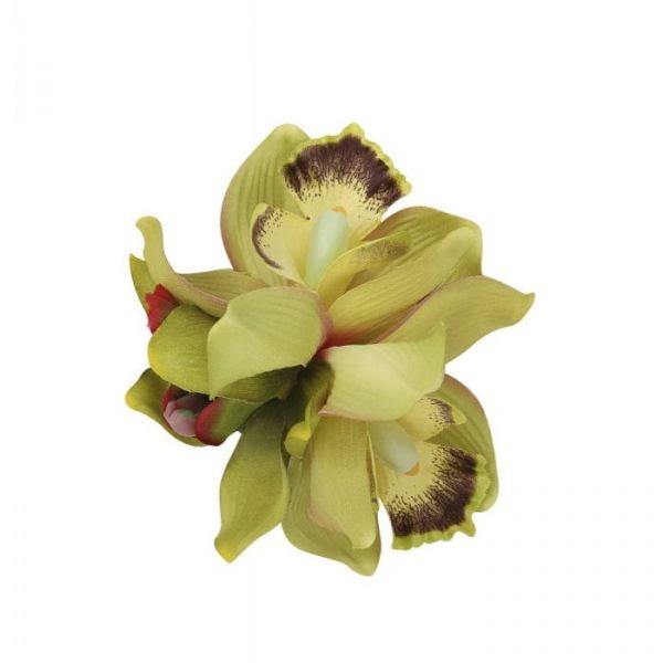 Hair flower, AALIYAH ORCHID Lime
