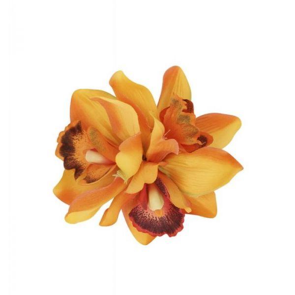 Hair flower, AALIYAH ORCHID Orange