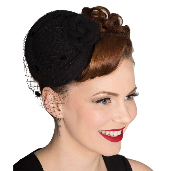 Fascinator, MARILYN Blk (AC2279)