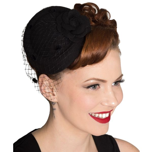 Fascinator, MARILYN Black (AC2249)
