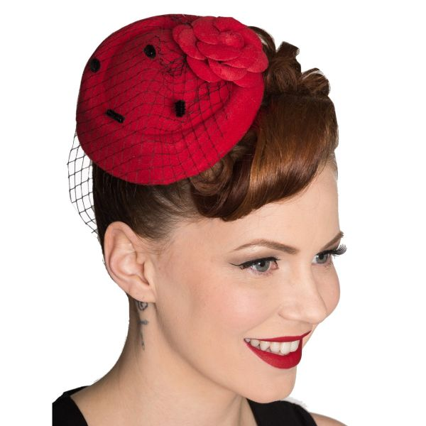 Fascinator, MARILYN Red (AC2279)