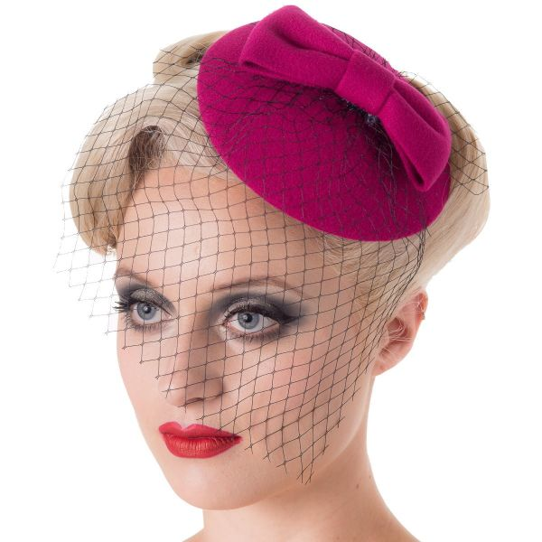 Fascinator, CANDICE Magenta (AC2333)