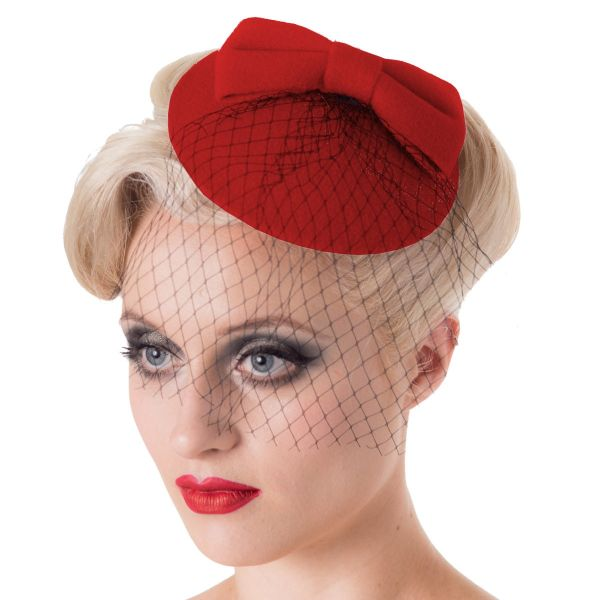 Fascinator, CANDICE Red (AC2333)