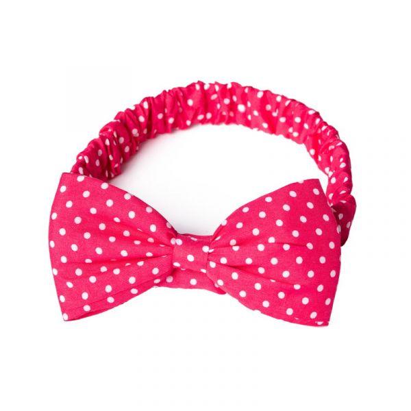 Hairband, DIONNE Pink Polka