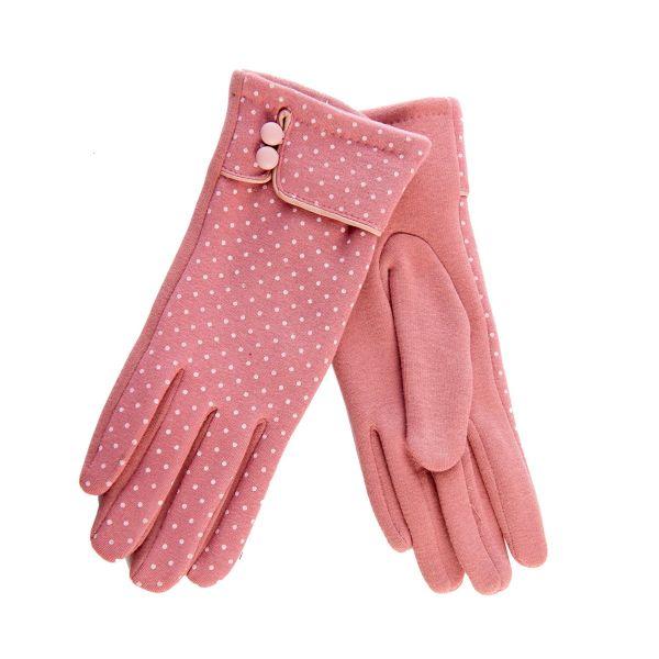Hansikkaat, LEILA Pink Polka (45025)