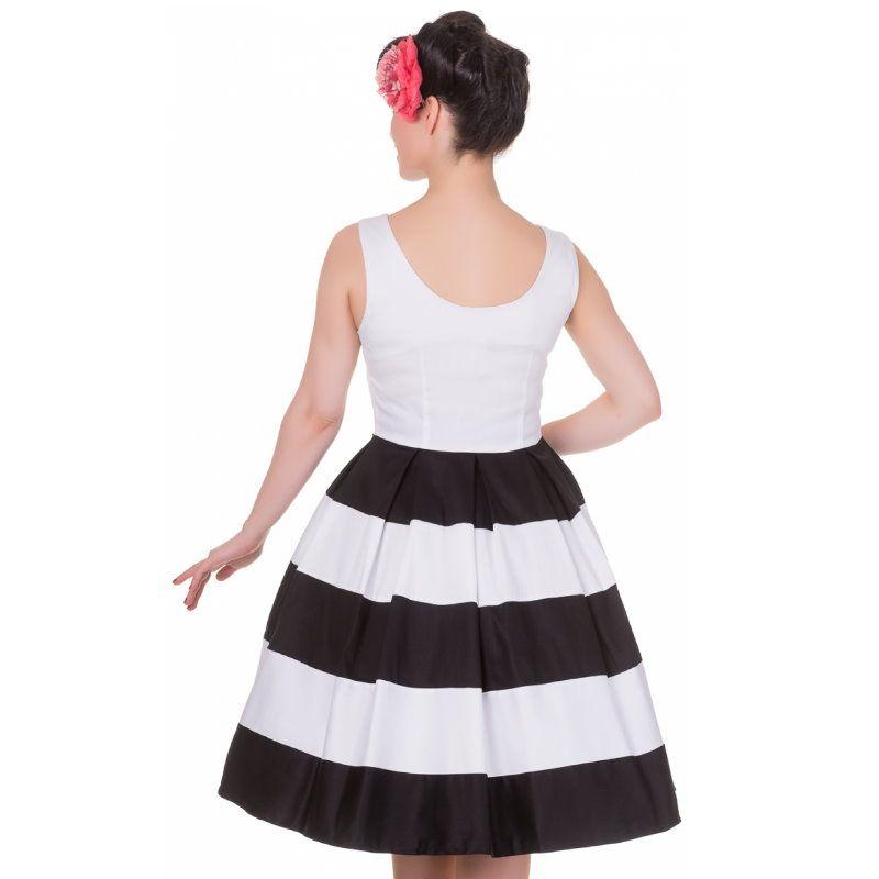 Kellomekko, ANNA Stripe White (V332)