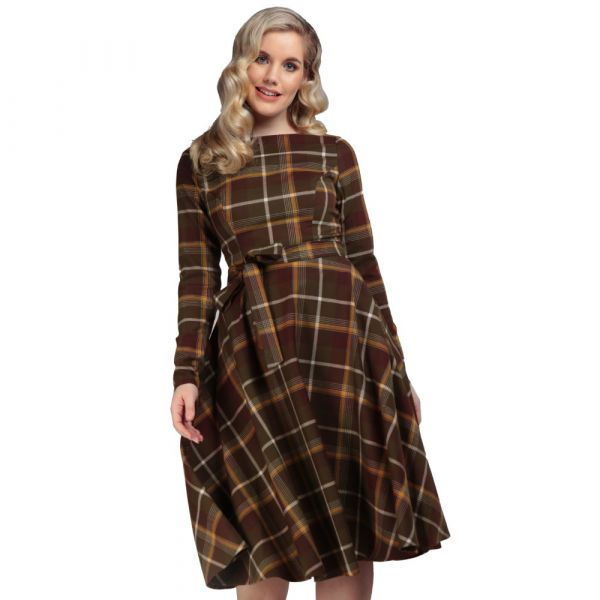 Swing Dress, ARWEN Mosshill Check
