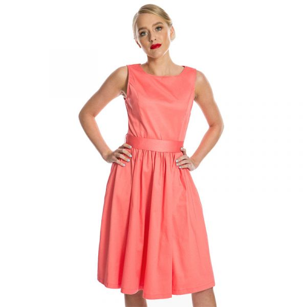 Swing Dress, AUDREY Coral