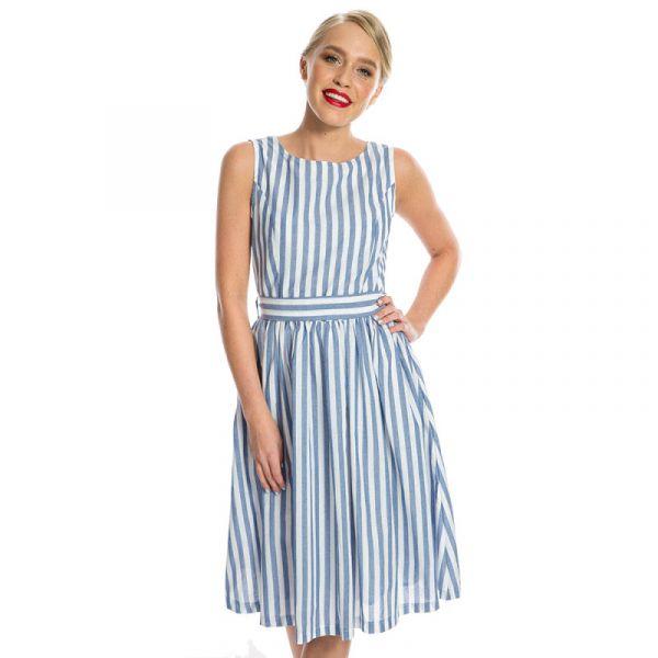 Kellomekko, AUDREY Rustic Blue Stripe