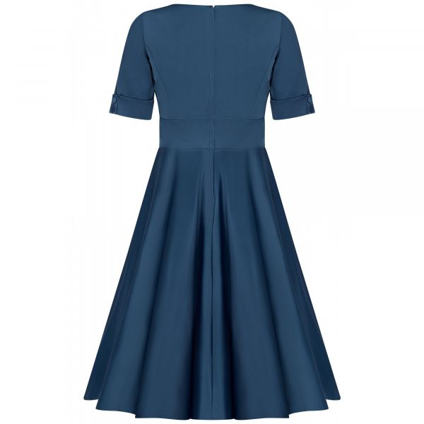 Swing Dress, BARBARA Blue (849-8