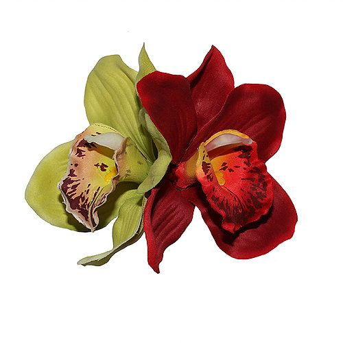 Hiuskoriste, GINGER Double Green/Red Orchid