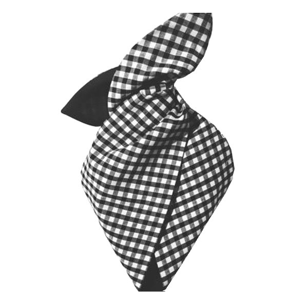 Hairband, BE BOP Gingham Black