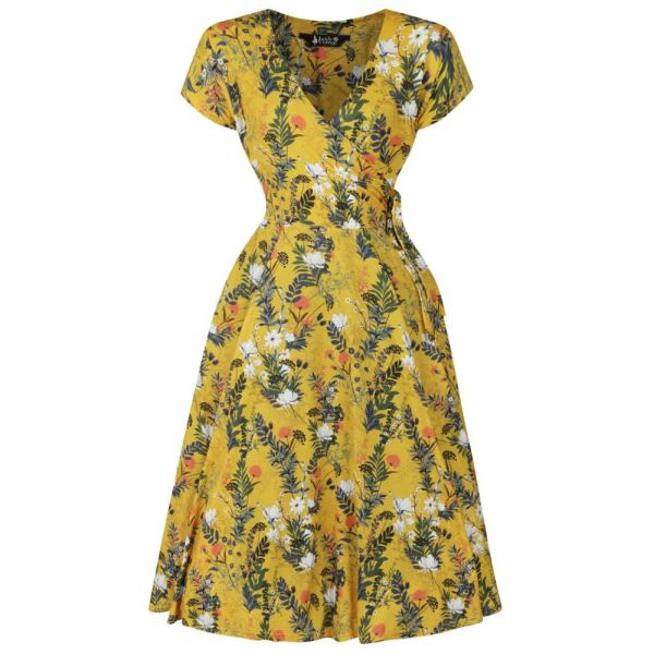 Swing Dress, LADY V Canary Floral