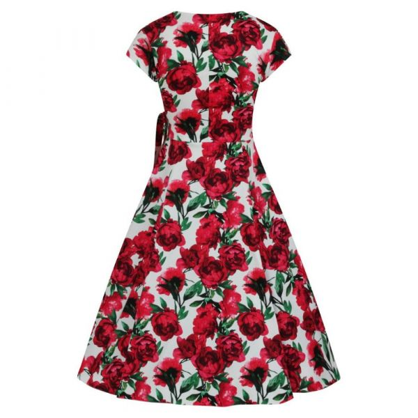 Swing Dress, BELLA Red flower