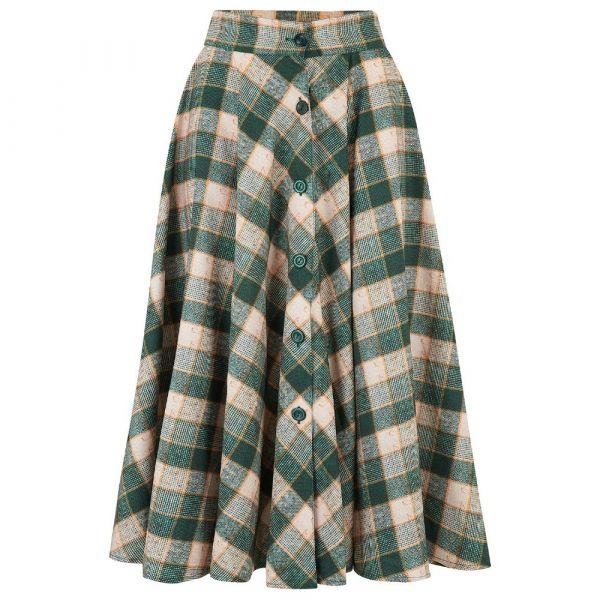 Swing Skirt, ROCK'N ROMANCE Beverly Green Check