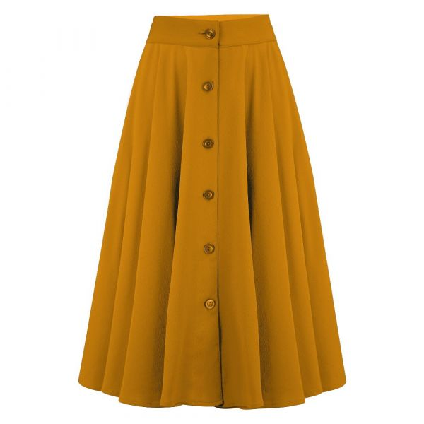 Swing Skirt, ROCK'N ROMANCE Beverly Mustard