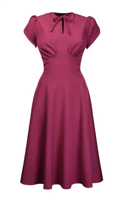 Dress, PRETTY RETRO Pretty Starlet Dark Rose