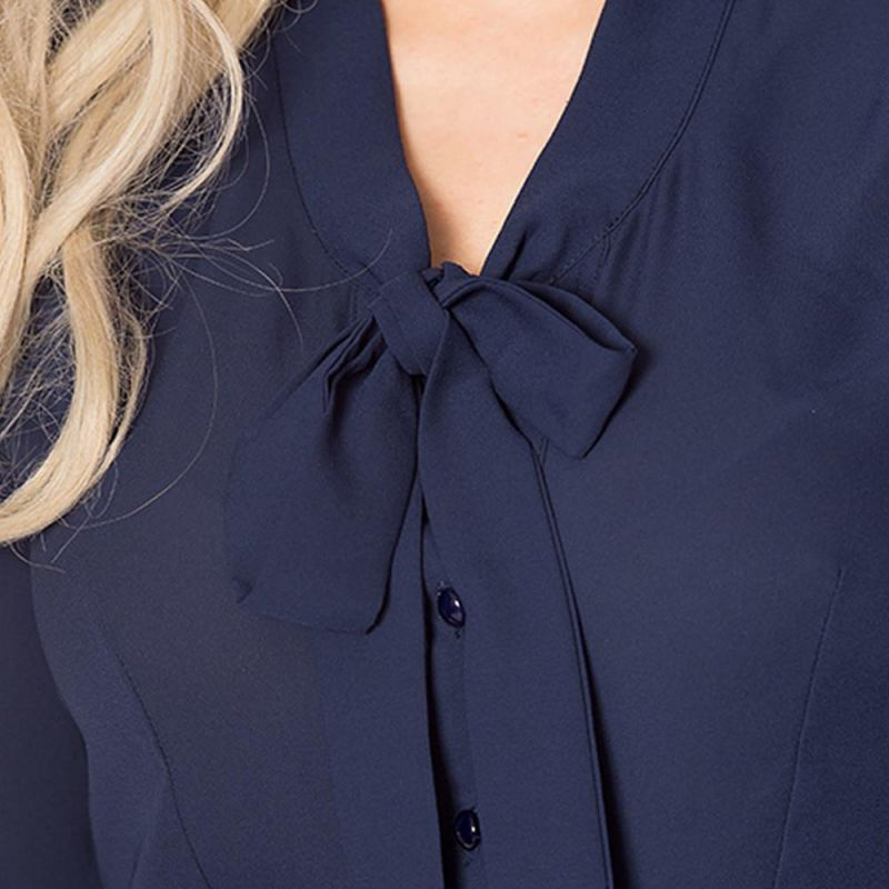 Blouse, PERFECT PUSSYBOW Navy (14030)