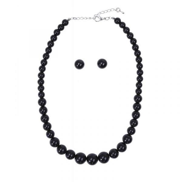 Bead Set, NATALIE Beads Black