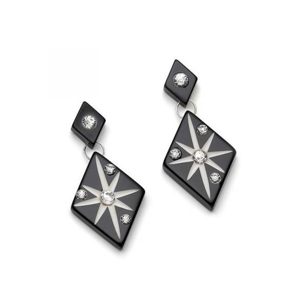 Earrings, SPLENDETTE Black Starburst