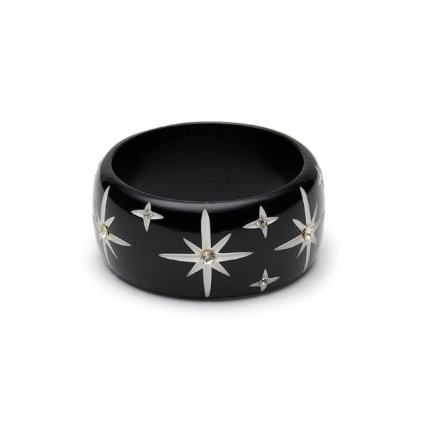 Bracelet, SPLENDETTE Black Starburst Extra Wide