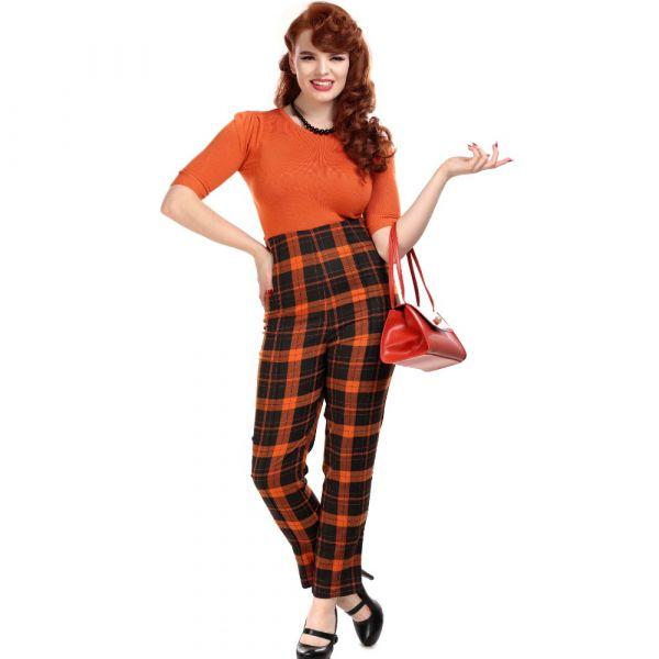 Trousers, BONNIE Pumpkin Check