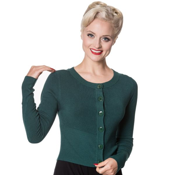 Cardigan, DOLLY Forest Green (CA3175)