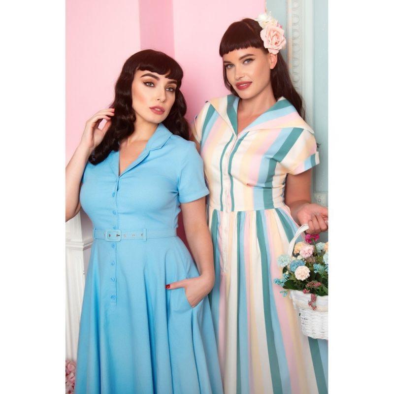 Swing Dress, JUDY Teacup Stripe