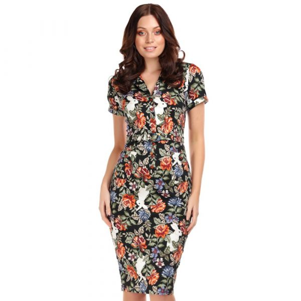 Pencil Dress, CATERINA FOREST FLORAL