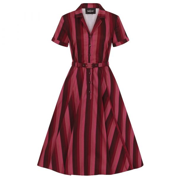 Swing Dress, CATERINA Midnight Stripe