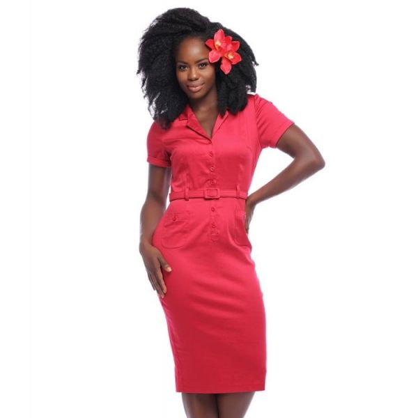 Pencil Dress, CATERINA RED