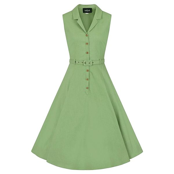 Swing Dress, CATERINA Sleeveless Green