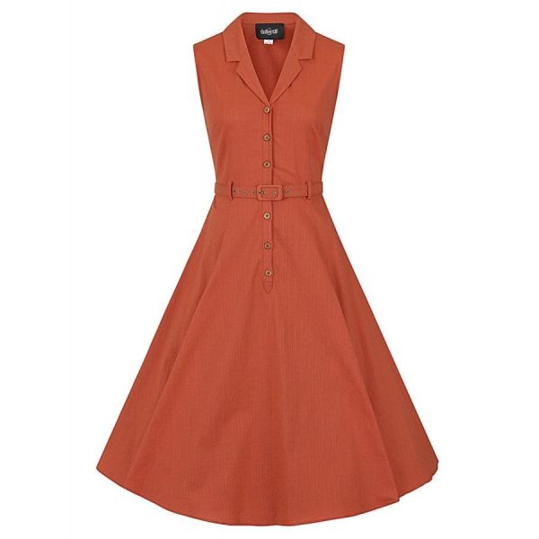 Kellomekko, CATERINA Sleeveless Orange