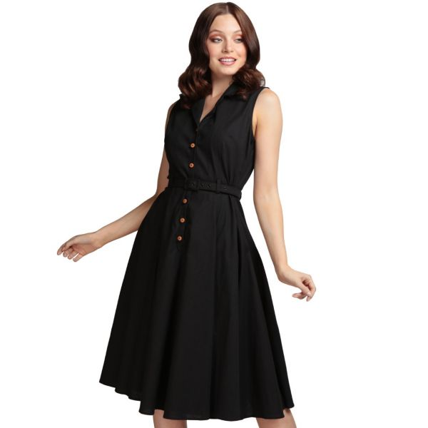 Swing Dress, CATERINA Sleeveless Black