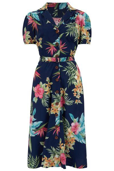 Swing Dress, ROCK'N Charlene Honolulu Navy