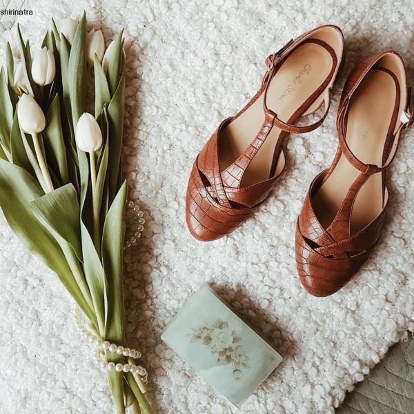Shoes, CHARLIE STONE Roma Mahogany