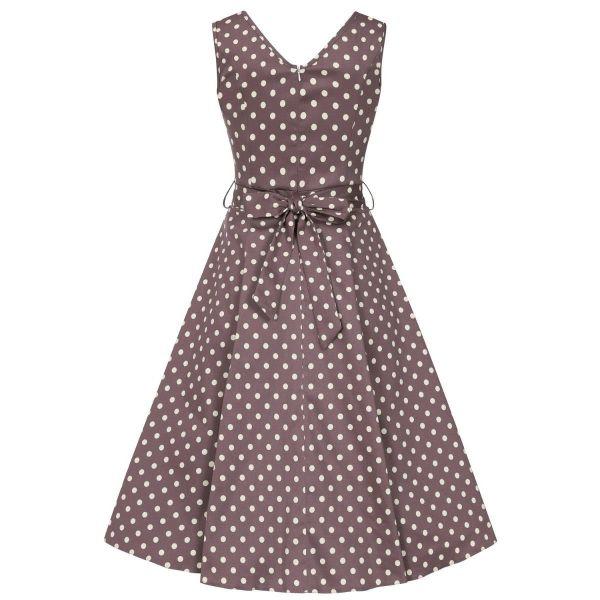 Swing Dress, CHARLOTTE Mocha Polka