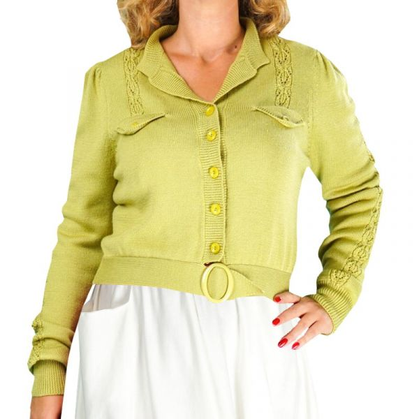 EMMY Cardigan, Jolly 40s Chartreuse