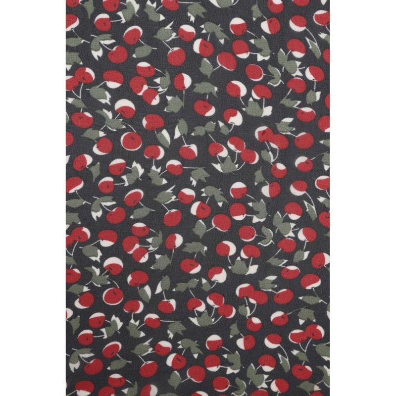 Huivi, Cherries Field Black