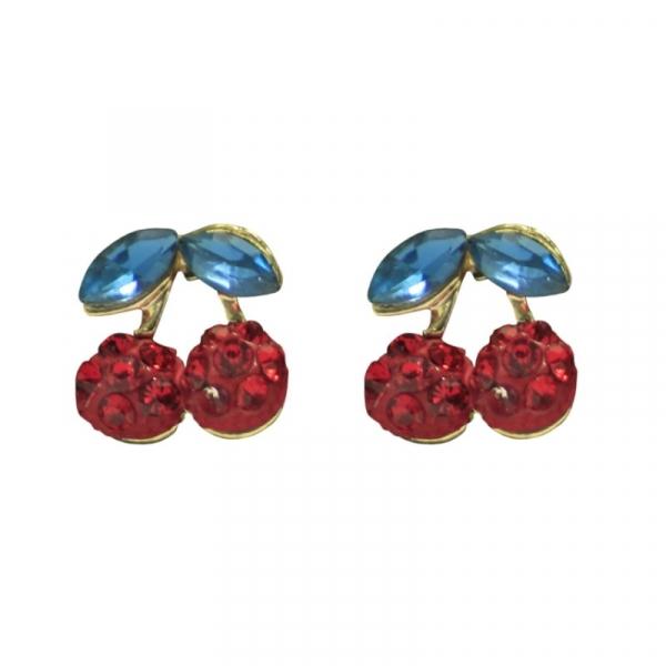 Korvakorut, Diamante Cherry Red/Green