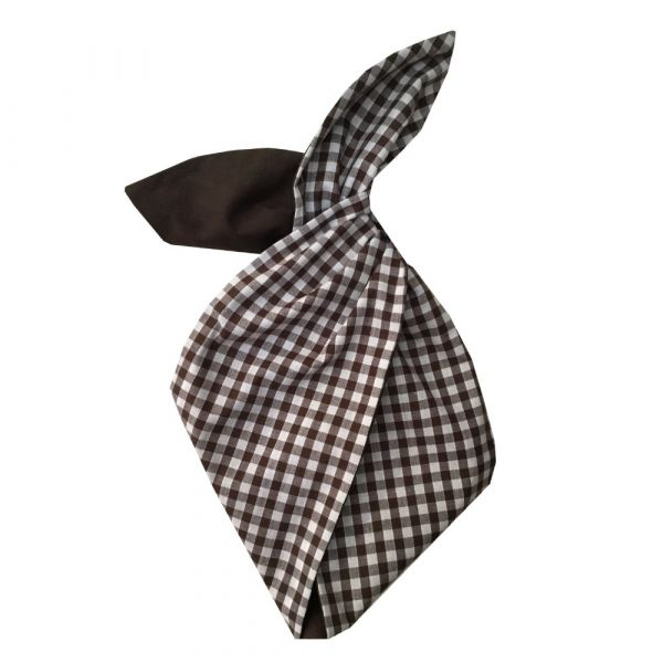Hairband, BE BOP Gingham/Dark Chocolate