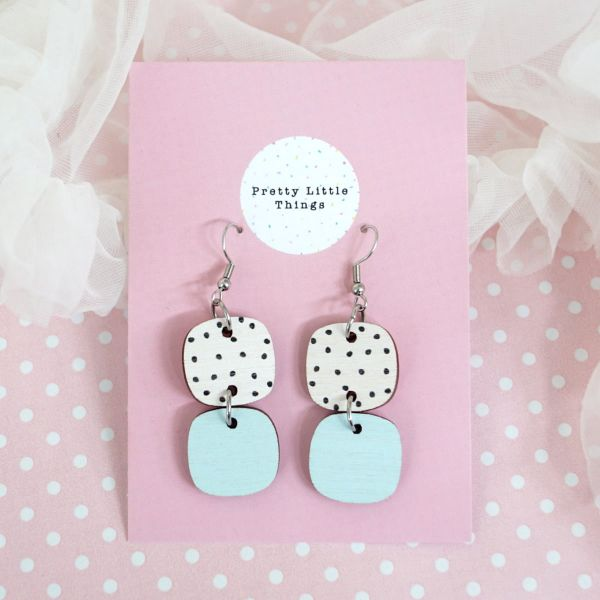 Earrings, PRETTY LITTLE THINGS Choice Polka/Light Blue