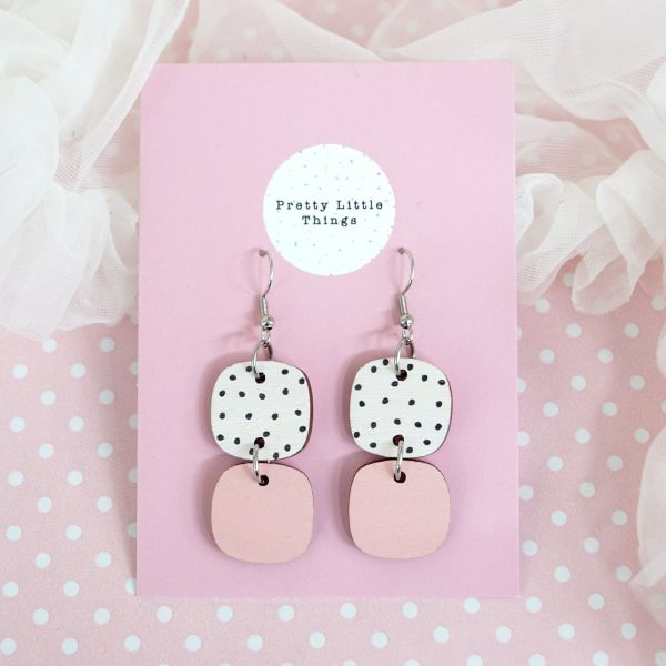 Earrings, PRETTY LITTLE THINGS Choice Polka/Rose