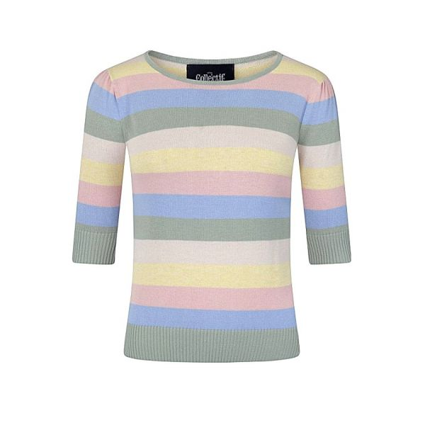 Knitted Top, CHRISSIE Teacup Stripe