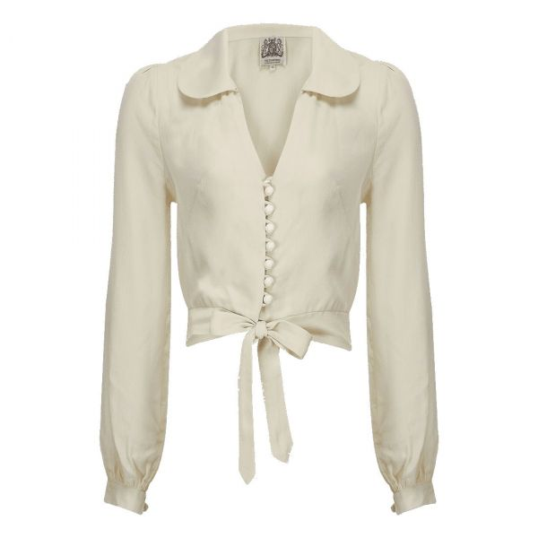 Blouse, SEAMSTRESS OF BLOOMSBURY Clarice Ivory