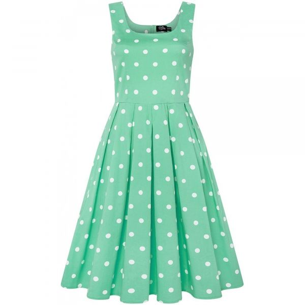 Swing Dress, AMANDA Mint Polka (950-30)