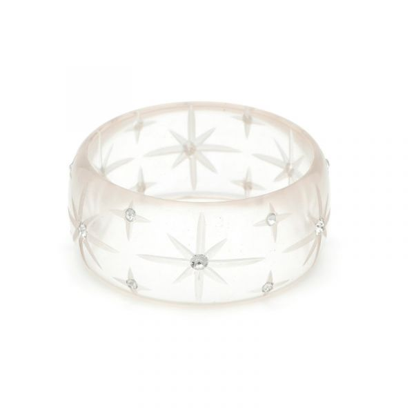 Bracelet, SPLENDETTE Clear Starburst Extra Wide