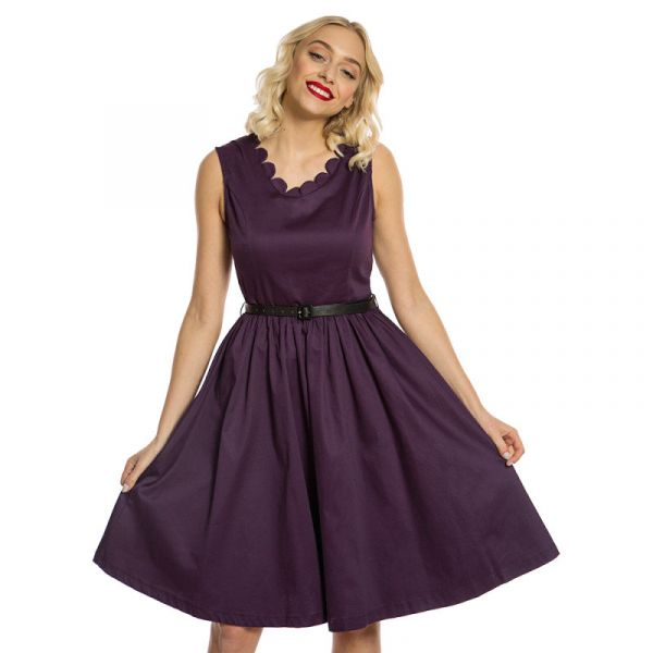 Swing Dress, DARIA Damson