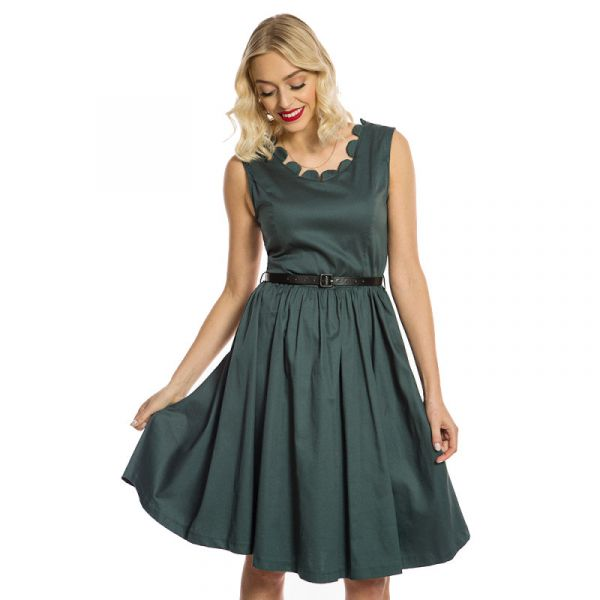 Swing Dress, DARIA Pine Green